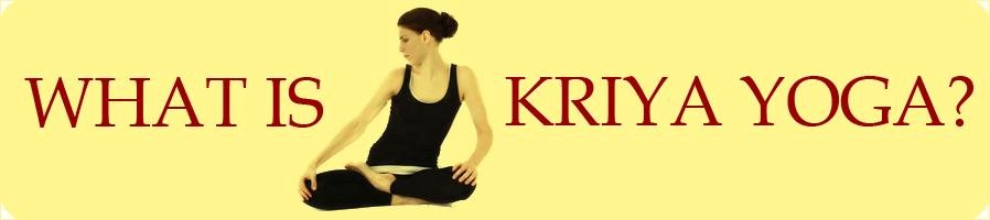 What is kriya