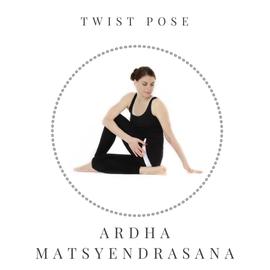 Twist pose -Ardha Matsyendrasana