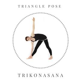 Triangle pose - Trikonasana