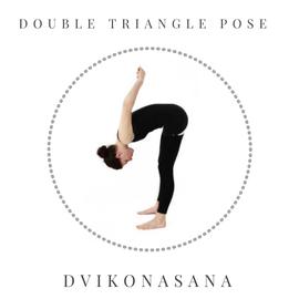 Double triangle pose - Dvikonasana